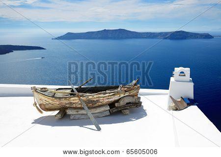 Building Decoration On Santorini Island, Greece