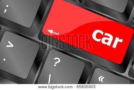 Car Delivery Button Computer Keyboard Keys, Business Concept