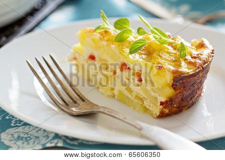 Potato and pepper breakfast gratin