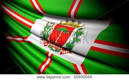 Flag Of Curitiba (brazil)