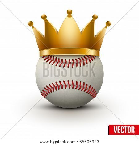Baseball Ball With Royal Crown
