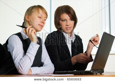 Two Young Businesswoman.