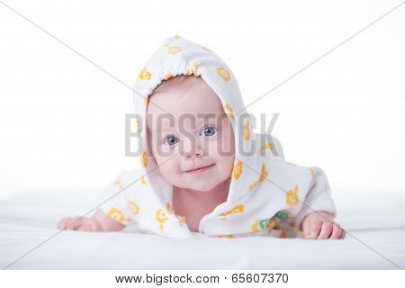Cute Infant Girl In Hood