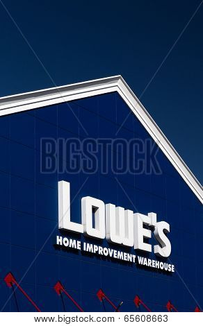 Lowe's Home Improvment Warehouse Exterior.