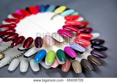 Nail Polish Samples Set. Shallow Dof