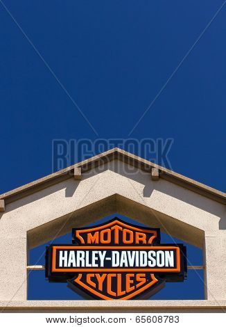 Harley-davidson Motor Cycle Sign