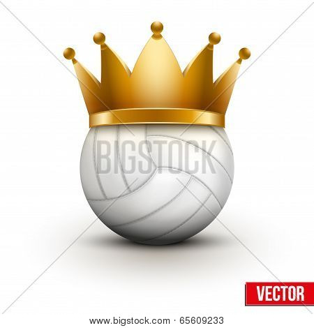 Volleyball ball with royal crown