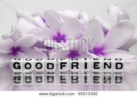 Good Friend With Pink Flowers