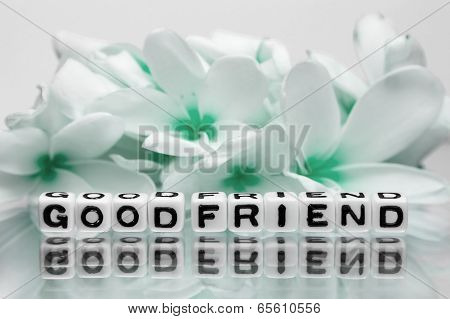Good Friend With Green Flowers