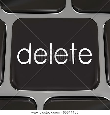Delete Key black computer keyboard correct mistake error