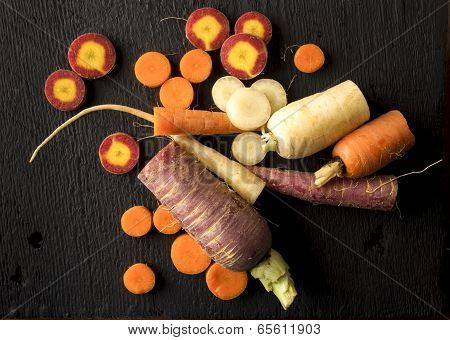 Organic Heirloom Carrot Arrangement