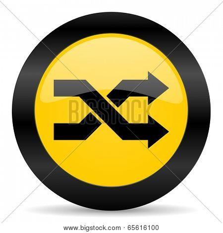 aleatory black yellow web icon