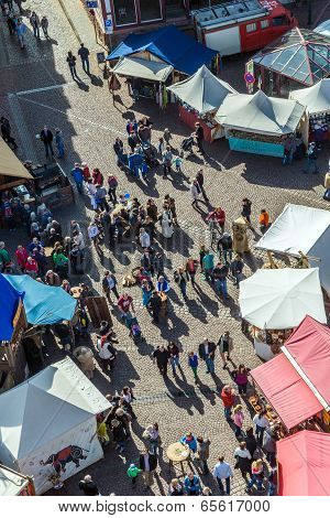 People Enjoy The 24Th Barbarossamarkt Festival
