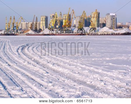 Port On Frozen River