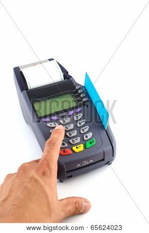 Portable Credit Card Terminal On Base
