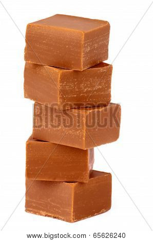 Stack Of Toffee Candies