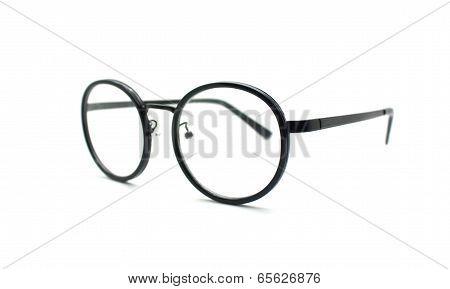 Black Nerd Glasses Isolated On White