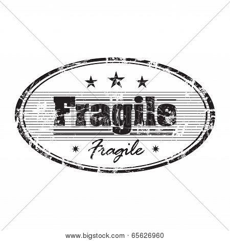 Fragile grunge rubber stamp