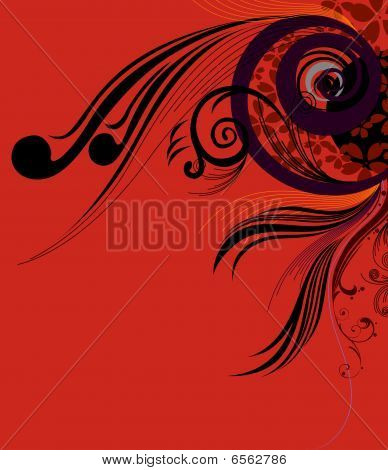 abstract circle and curve background