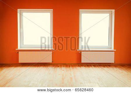 Empty orange room