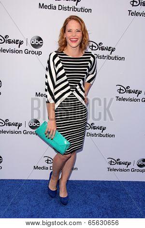 LOS ANGELES - MAY 19:  Katie Leclerc at the Disney Media Networks International Upfronts at Walt Disney Studios on May 19, 2013 in Burbank, CA