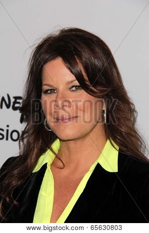 LOS ANGELES - MAY 19:  Marcia Gay Harden at the Disney Media Networks International Upfronts at Walt Disney Studios on May 19, 2013 in Burbank, CA