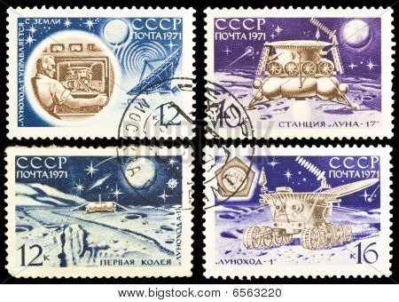 The Soviet Stamps About Moon Exploration
