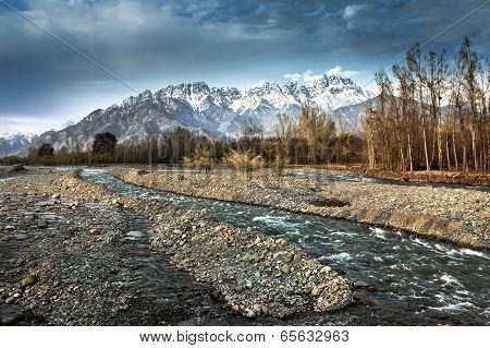 The Beautiful Nature With Himalaya Mountain Background