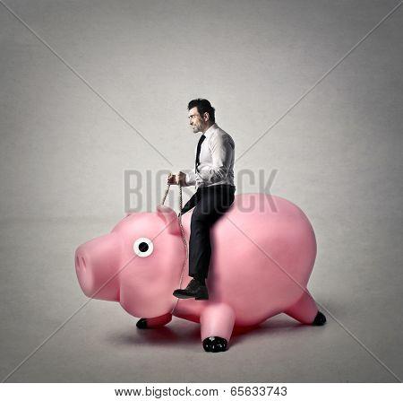 riding a piggy