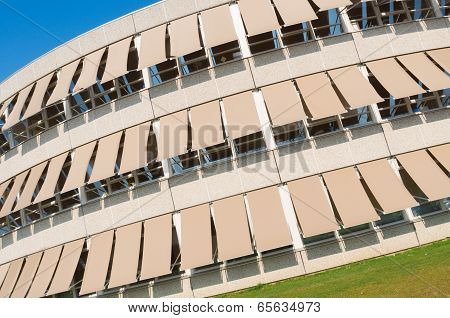 Building With Sunshades