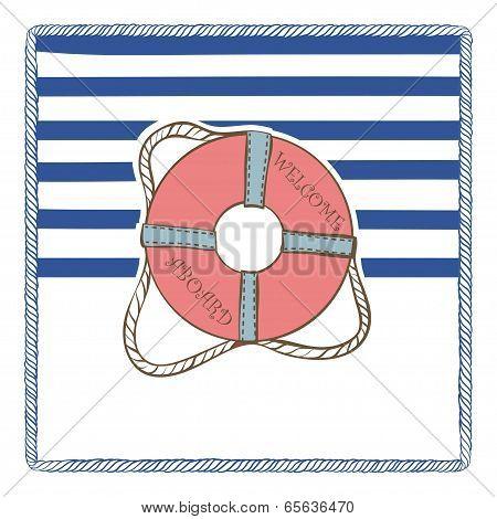 Vector Sea Postcard