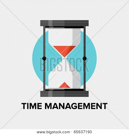 Time Management Flat Illustration