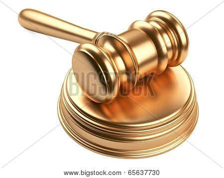 Gold Gavel And Soundboard