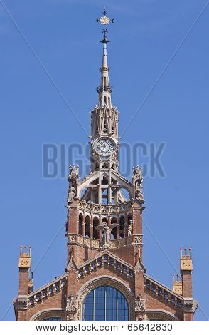 Tower Clock Of The Sant Pau Hospital, Barcelona