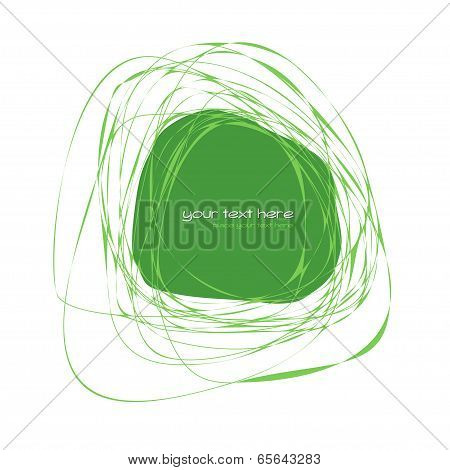 Abstract green frame