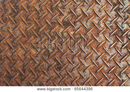 Background of metal diamond plate.