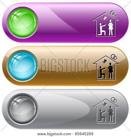 Home affiance. Raster internet buttons.