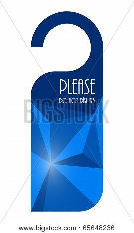 Do Not Disturb Sign With Modern Triangle Design