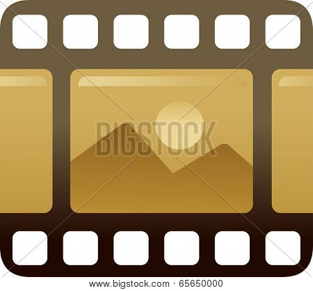 The view of cine film