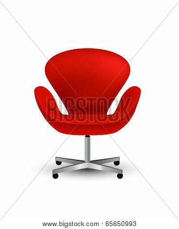 Semi-realistic vector office chair icon