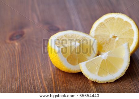 lemon fruit on a wooden background