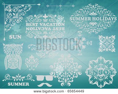 Vector Summer Design Elements
