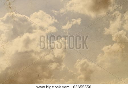 retro styled sky paper texture