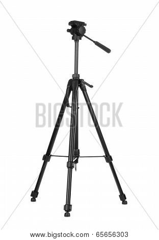 Photo tripod isolated on white background