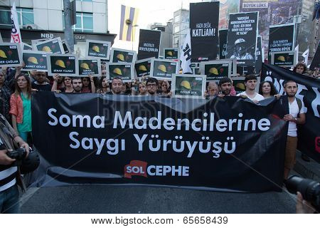 Protests Over Soma Mine Disaster