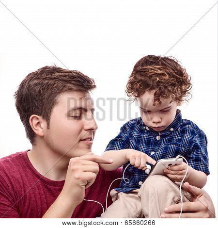 Teaching His Son