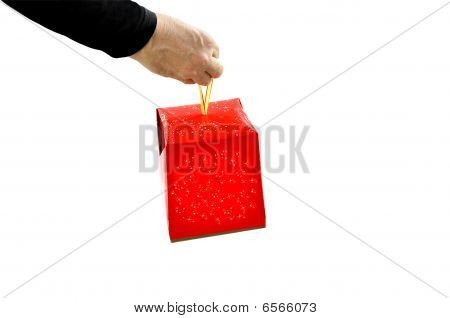 Hand Giving A Present.