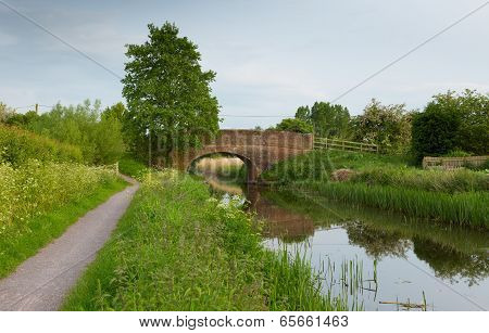 Bridge over river England UK English country scene