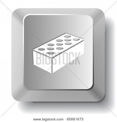Hollow brick. Vector computer key.
