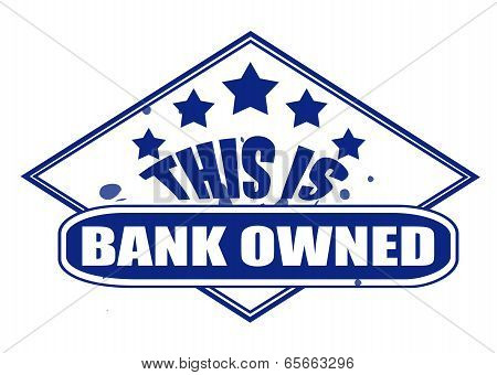 This Is Bank Owned Stamp